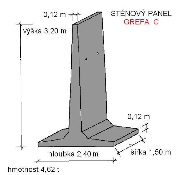 T panel stěnový 3,2 m
