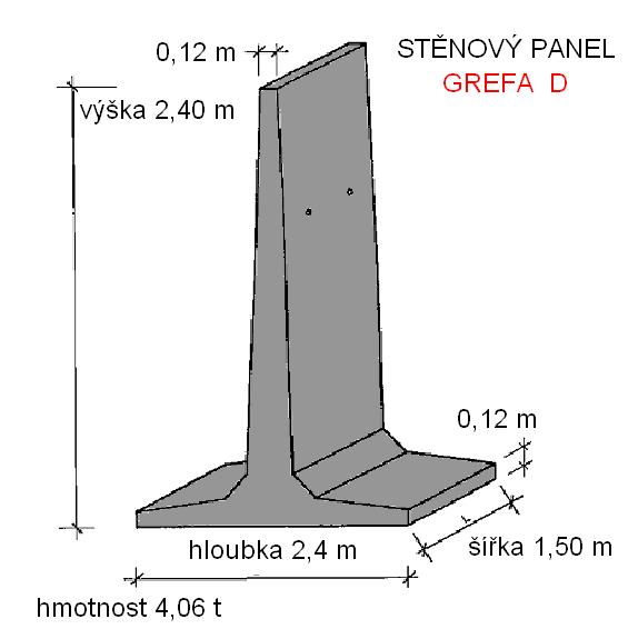 T panel stěnový 2,4 m